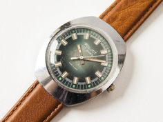 Men's wristwatch Poljot  silver tone watch  Soviet by SovietEra, $52.00
