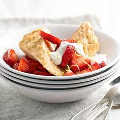 Lighter Strawberry Shortcake