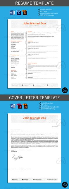 Resume\/\/ Minimal Theme \/\/Customizable\/\/Professional Architecture - art resume template