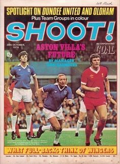 magazine in Oct 1976 featuring Birmingham City v Liverpool on the cover. Liverpool Players, Liverpool Fans, Dundee United, Leeds United, Old Football Boots, Carlisle United, English Football League, Huddersfield Town, Coventry City