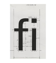 Design is fine. History is mine. — Adrian Frutiger, working on the development of the...