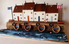 Treibholz-Häuser Treibholz Landhaus am Meer von TTassel auf Etsy