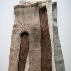 winter woolies. toasty legs in cosy colours
