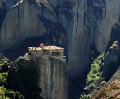 Meteora monasteries, Plain of Thessaly, Greece — featured in For Your Eyes Only