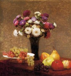 アンリ・ファンタン=ラトゥール【テーブルの果物】 - 絵画(油絵複製画)販売「アート名画館」 - 祝い事のプレゼントにも大人気!