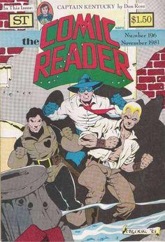 Mike Mignola draws Dominic Fortune, the Spirit, Doc Savage for Comic Reader Comic Book Publishers, Comic Books, Don Rosa, Mike Mignola Art, Comic Artist, Cover Art, Novels, Nerd, Comics