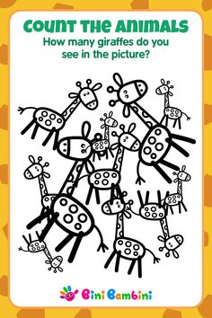 Learn to count with Bini Bambini 🦒 #binibambini #besteducation #teaching #learningnumbers #counting #math #games #apps #happykids #funchildren #toddler #preschool #kindergarten