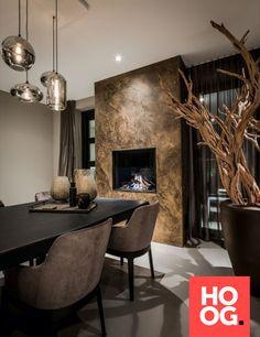 Chique Interieur | Luxe Wooninspiratie | HOOG design Dream Home Design, Home Interior Design, Home Living Room, Living Room Decor, Cosy House, Dining Room Design, Room Inspiration, House Styles, Home Decor