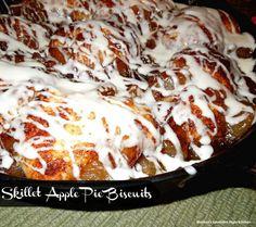 Skillet Apple Pie Biscuits - melissassouthernstylekitchen.com