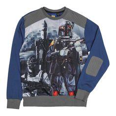 Star Wars Boba Fett Prime Bounty Movie Scene Mesh Crewneck Sweatshirt #longsleeve #sporty #bountyhunters