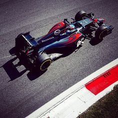 """Overhead and trackside. #FernandoAlonso #F1 #McLarenHonda #ItalianGP"" Photo taken by @mclaren on Instagram, pinned via the InstaPin iOS App! http://www.instapinapp.com (09/06/2015)"