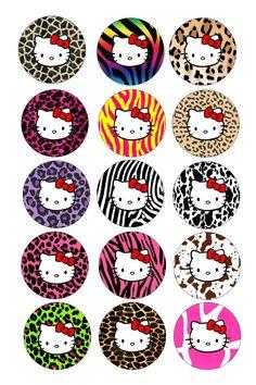 hairbow, bottle caps, hello kitty crafts, hello kitty bottle cap images, bottle cap printables, hello kitty printables, cap idea, animal prints, bottl cap