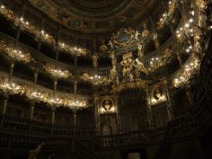 Interior of the Margrave's Opera House in Bayreuth
