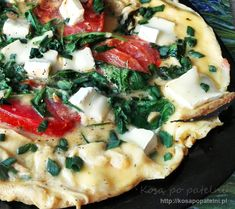 Omelet, Vegetable Pizza, Mashed Potatoes, Meals, Baking, Breakfast, Ethnic Recipes, Fitness, Food