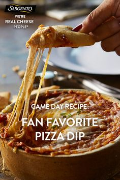 Promoted by Sargento®. Who doesn't love pizza? Who doesn't love dip? Our easy-to-prep pizza dip combines the best of two worlds into one delicious dish that's perfect for entertaining. Click the dip for the full scoop!