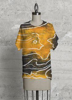 Yellow woman - Modern Tee by Annariitta Saarelainen Print Patterns, The Originals, Chic, Yellow, Tees, Classic, Modern, Artist, Clothes