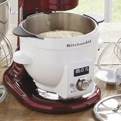 HEATED mixing bowl for Kitchenaid mixers! So excited to have control over exact temp
