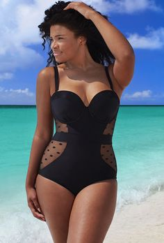 Swimsuits for All | GabiFresh for Swim Sexy The Marchioness E/F Underwire Swimsuit