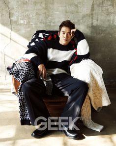 Joo Sang Wook - Geek Magazine February Issue '15 Joo Sang Wook, Lee Jin Wook, Choi Jin Hyuk, Choi Seung Hyun, Korean Star, Korean Men, Asian Men, Korean Actors, Asian Guys