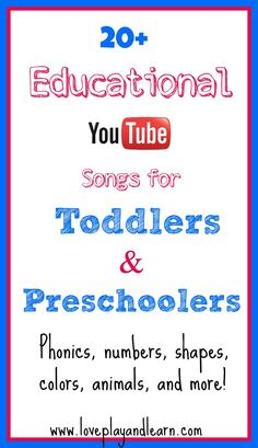 20 Top Educational Videos for Toddlers & Preschoolers!