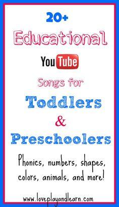 20 Top Educational Videos for Toddlers & Preschoolers!