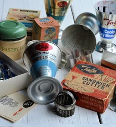Made in England Vintage Kitchenalia: Old Tins, Icing Sets and Measuring Cones with Tala