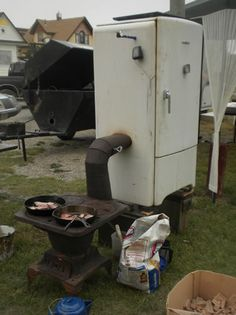 fridge smoker   Don't know about the fridge but I love the little stove.