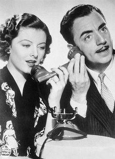 TELEPHONE~Myrna Loy and William Powell
