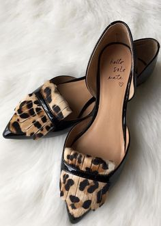 Put some pep in your step with our leopard print oxford flats c/o Kayla Grace | Banana Republic #flatsoutfitwork