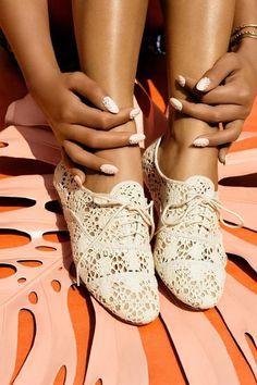 White Lace Oxfords ♥
