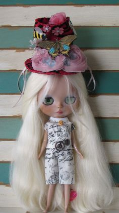 BLYTHE ARTWEAR, Steampunk gadget outfit, printed cotton, handmade in the USA