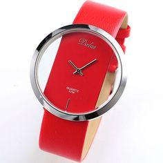 Dalas Red Leather Transparent Dial Fashion Lady Girl Wrist Quartz Watch Gift WAA026 Dalas http://www.amazon.com/dp/B0096LPCVQ/ref=cm_sw_r_pi_dp_9.1Cwb06HFS00