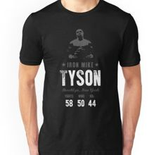 e3c0a5d2c845d9 Boxing Legends t-shirts featuring Iron Mike Tyson. One of the most brutal  and