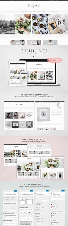 TUULIKKI Nordic Blog & Shop Theme. WordPress Blog Themes. $49.00