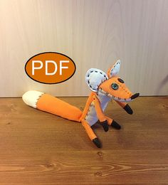 PDF fox pattern tutorial fabric toy fox PDF от NatashaArtDolls