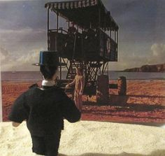 "Poirot and sea tractor - from ""Evil under the Sun"""