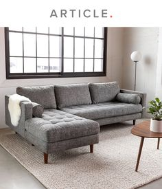 Sven Briar Gray Left Sectional Sofa