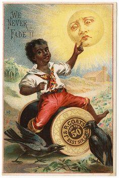 J. & P. Coats Thread Victorian Trade Card