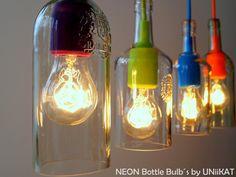 """Hängelampen - Pendelleuchte """"NeonBB"""" incl. Glühbirne - ein Designerstück von Uniikat-Shop bei DaWanda"""