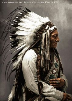 Sitting Bull Colorized by Grover Native American Warrior, Native American Beauty, American Indian Art, Native American History, American Indians, Native American Paintings, Native American Pictures, Sitting Bull, Native Indian