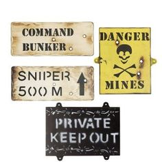 Set Of 4 Wooden Army Wall Signs - Kids Army Bedroom Signs Boys Army Bedroom, Military Bedroom, Army Decor, Army Room Decor, Bedroom Signs, Bedroom Themes, Bedroom Wall, Bedroom Ideas, Boy Room