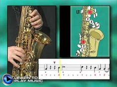 Ex017~T How to Play Saxophone - Saxophone Lessons for Beginners ~ Tenor Part - YouTube
