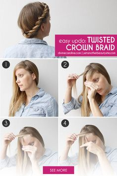 On those days when a breezy updo is just what you need, this twisted crown braid is perfect. Check out the full tutorial. #divinecaroline #hair #howto