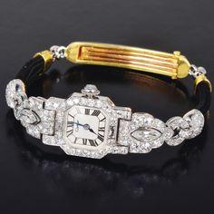 Cartier Art Deco Watch     古董珠寶 鑽石珠寶 Anna Lin Jewelry古董珠寶 鑽石珠寶 Anna Lin Jewelry