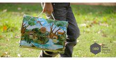 Portafolio mochila / Oilcloth backpack