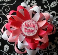 Middle Sister Bottle Cap Hair Bow and Headband