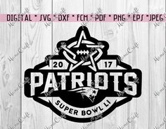 SVG PATRIOTS New ENGLAND Super Bowl 2017 Houston by MamaCraft4You
