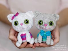 Smartapple Creations - amigurumi and crochet: Free crochet pattern - Cheeky Kitty  ----  Katze Amigurumi - Fotoanleitung
