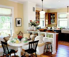 peninsula and banquette storage
