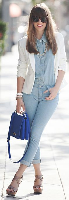 Marshalls Store Blue Chambray Shirt